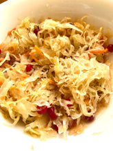 Load image into Gallery viewer, LEIS Pickled Cabbage Sauerkraut Siberian style  with cranberry 0.9l