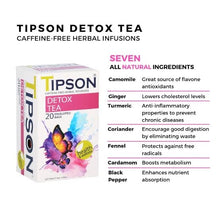 Load image into Gallery viewer, TIPSON Wellness tea 20 tea bags organic caffeine free
