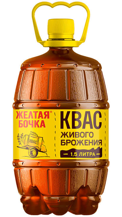 Soft drink KVASS Yellow Barrel 1.5l