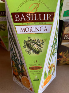 Moringa leaves, Orange and Ginger 15 pyramid tea bags