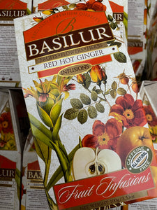 Basilur Caffeine Free Red Hot Ginger 100g, 20 tea bags