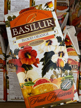 "Load image into Gallery viewer, Basilur - ""Blood Orange"" Fruit Infusions Collection - Natural Caffeine Free - 100g, 20 Sachets"