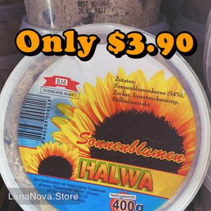 "Sunflower ""SONNENBLUMEN"" (Halva) ""MOLDOVA"", Packaged in Plastic Jar, 400g. ""RM"""