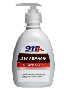 "Antibacterial antiseptic liquid tar soap ""911,"" 250 ml"