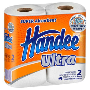 Handee ULTRA PAPER TOWELS WHITE 2S