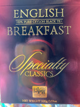 Load image into Gallery viewer, Basilur Speciality Classics - English Breakfast - Pure Ceylon Black Tea 100g