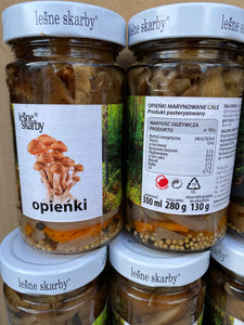 Forest Treasures Pholiota Nameko Opyata Honey pickles Salted 280g Опята