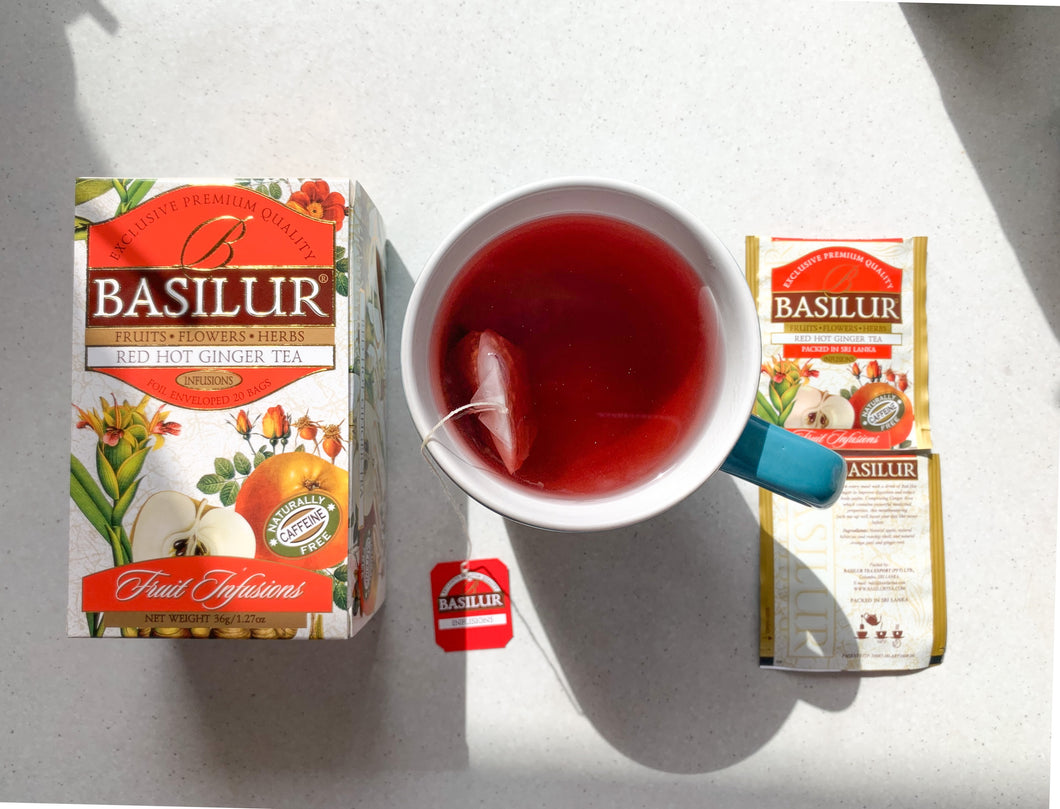 Basilur Caffeine Free Red Hot Ginger 20 tea bags