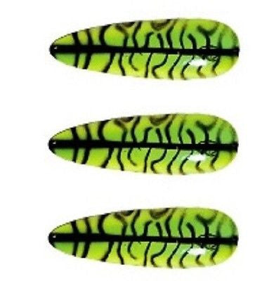 "Three Eppinger Seadevle IMP Mackerel Finish Fishing Spoon Lure 1 oz 3 1/4"" 62-40"