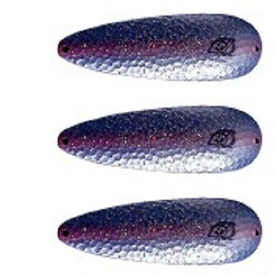 "Eppinger 3 Rok't Dardevle Pearl Blue Purple Spoons 1 3/4oz 3 5/8""x 1 1/4"" 0H-335"