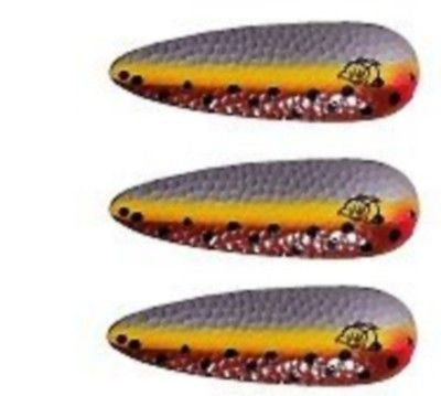 "Three Eppinger Buel Spinner 1/0 Brown Trout Fishing Lures 1/2 oz 5"" 91-7"