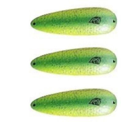 "Three Eppinger Seadevlet Pearl Green Fishing Spoon Lures 1 1/2 oz  4"" 61-337"