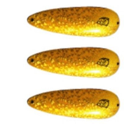 "Three Eppinger Cop-E-Cat Brass Crystal Fishing Spoons 3 1/2 oz 5 1/4"" 70-5"