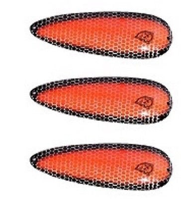 "Three Eppinger Seadevle Orange/Black Side Fishing Spoon Lures 3 oz  5 3/4"" 60-76"