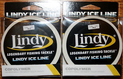 2 Units - Lindy Ice Fishing Line 6 lbs 165 yards Green