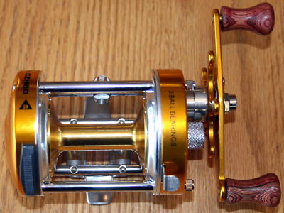 NEW 3BB CZH60 Baitcast Fishing Reel Trolling Gold
