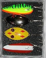 Eppinger Four Different Lure Combo Fishing Pike Kit 1-16 1-58 1-8817 1-8822
