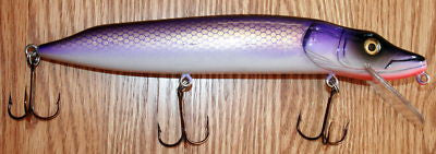NEW 10 Inch Hard Wood Musky Muskie Lure Pike Purple