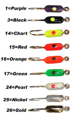 Dot Lure Fishing Comet Jig Assort Colors Size 10 (Nine Jigs Included) DCT