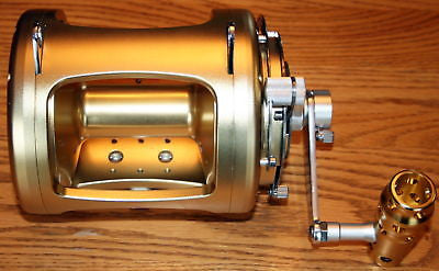 New 50W Big Game 2 Speed Saltwater GOLD 8BB Fishing Reel NIB