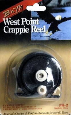 B&M West Point Crappie Fishing Reel 1:1 Ratio Hold 20 yds of Line FR2