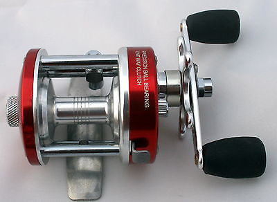 NEW CL25 Ice Fishing Baitcast Reel (Red) Aluminum Ming Yang Crappies Walleye