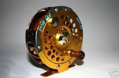 BRAND NEW BF1000 Aluminium Fly Fishing Reel Trout Reels Gold Silver Body