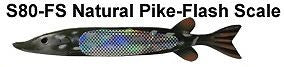 "Bear Creek 10"" Pike Spearing Decoy Natural Flash Scale (Includes 1 Decoy) S80-FS"