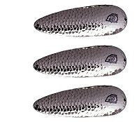 "Three Eppinger Dardevlet Hammered Nickel Fishing Spoon Lures 3/4oz 2 7/8"" 1-62"