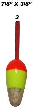 Carlisle Size 3 Bright Painted Wood Floats Includes Three Floats CA-MB3-3PK