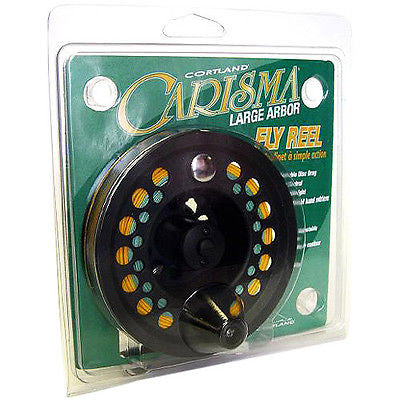 Cortland Carisma Fly Fishing Reel 5/6 Clam All Graphite L or R Handed 599642