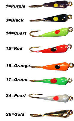 Dot Lure Fishing Rocker Jig Assort Colors Size 10 (Eight Jigs Included) DRK-10