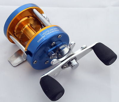 CL25 Crappie Sunfish Baitcast Fishing Reel (Blue Gold) Ice Walleye Pike Crappie