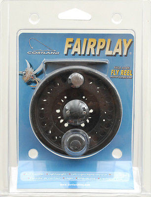 Cortland Fairplay Black Fly Fishing Reel 4/5/6 Clam All Graphite 600713