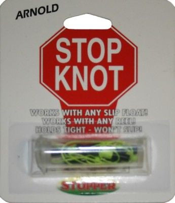 Arnold Stop Knots With Braided String With Beads 12/Display Card SK-45-12