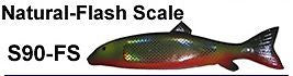 "Bear Creek 9"" Sucker Spearing Decoy Natural Flash Scale Includes 1 Decoy S90-FS"