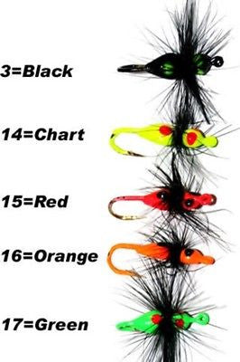 K&E Stopper Ice Ant Jig Ice Fishing Assortment (Five Jigs Included) Size 8 40-8