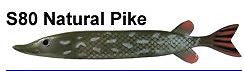 "Bear Creek 10"" Pike Spearing Decoy Natural Pike (Includes 1 Decoy) S80"
