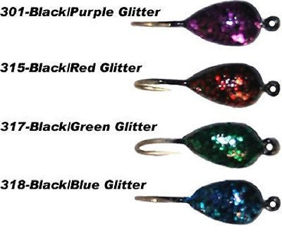 K&E Stopper Black Tear Jig Fishing Assortment (Four Jigs Included) Size 10 56-10