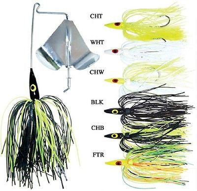 K&E Stopper Buzz Bait Six Buzz Baits Included Multi-Color 1/4oz BSP-PB14