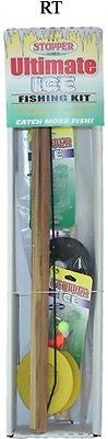 Stopper Ultimate Complete Ice Fishing Kit Rod/Reel Tip-Up Line Jigs FKW-RT