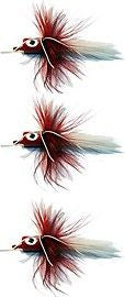 K&E Stopper Legged Popper Size 10 Red/Red/White Tri-Pack SL103PK-C