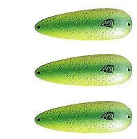 "Three Eppinger Dardevlet Pearl Green Fishing Spoon Lures 3/4 oz 2 7/8"" 1-337"