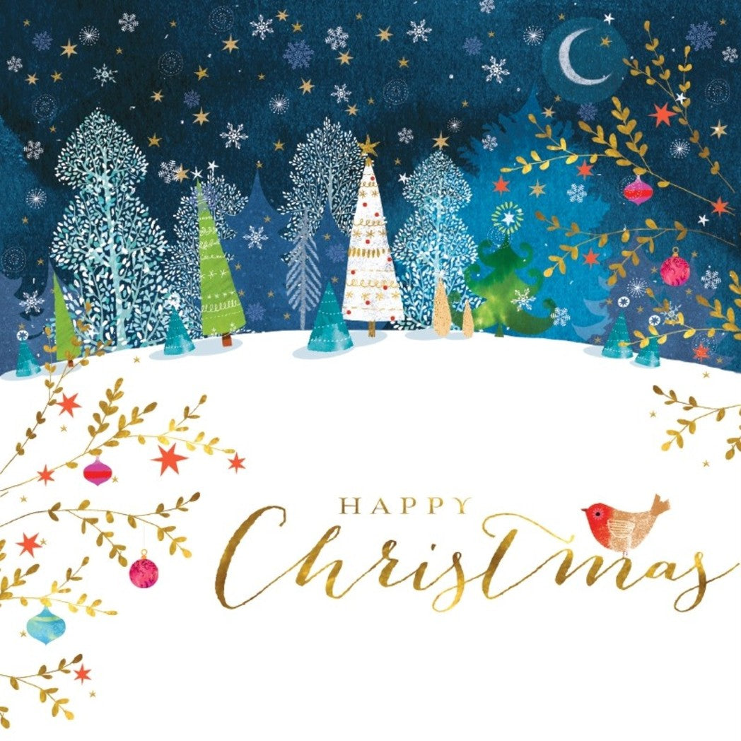 Starry Night Christmas cards, Pack of 10
