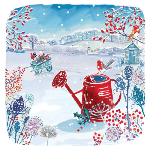 In the Garden Christmas cards, Pack of 10