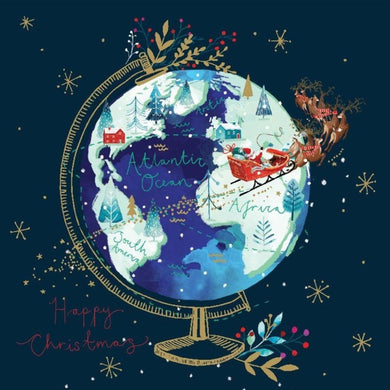 Globe Christmas cards, Pack of 10