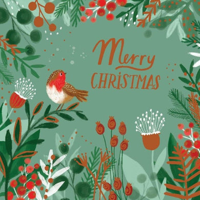 Illustrated Robin Christmas cards, Pack of 10