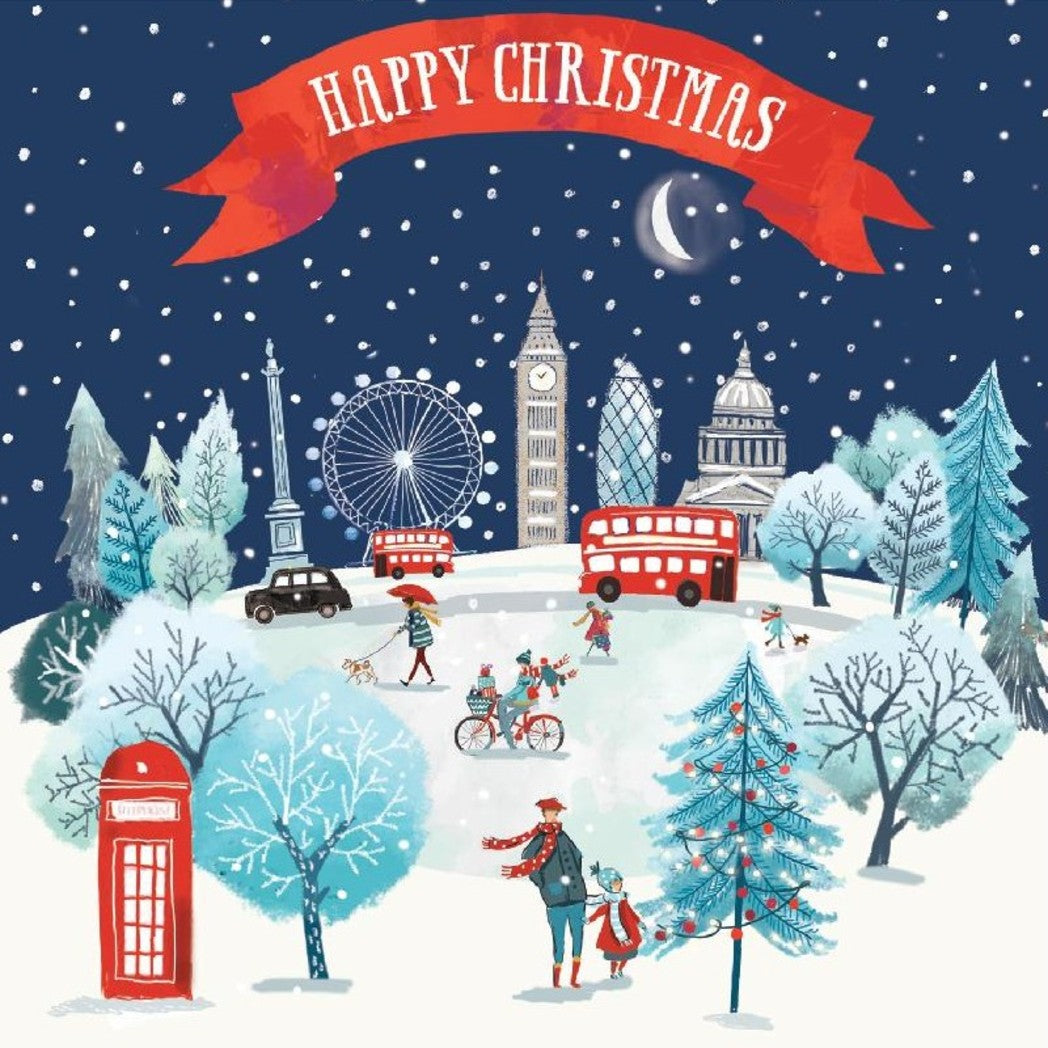 London Scene Christmas cards, Pack of 10