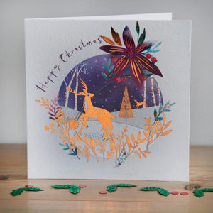 Woodland Scene Christmas cards, Pack of 10