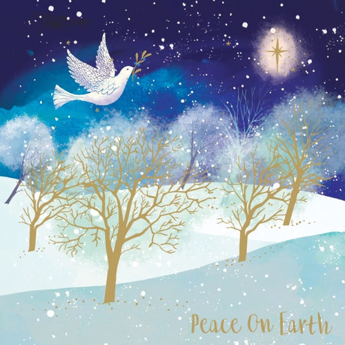 Dove Christmas cards, Pack of 10